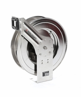"Reelcraft LC607-OLS Spring Retractable Stainless Reel 3/8"" x 70 ft, without Hose"