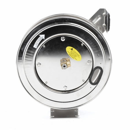 Reelcraft LC607-OLS Spring Retractable Stainless Reel 3/8 x 70 ft, without Hose