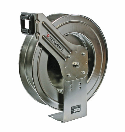 Reelcraft LC800-OLS Spring Retractable Stainless Reel 1/2 x 50 ft, without Hose