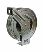 "Reelcraft LC800-OLS Spring Retractable Stainless Reel 1/2"" x 50 ft, without Hose"