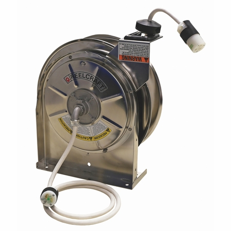 Reelcraft LS-5445-123-3 12/3 x 45ft 15A Single Outlet Cord Reel with Cord