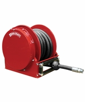 "Reelcraft SD14035-OLP 1"" x 35' Spring Retractable Compact Air/Water Reel w/ Hose"