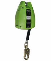 SafeWaze FS-EX2530-G-SL 30' Cable Retractable with Double Locking Snap Hook