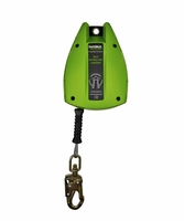 SafeWaze FS-EX2550-G-SL 50' Cable Retractable, Double Locking Snap Hook, Fall Indicator - Rated for Subdued Edges