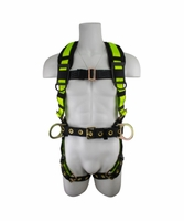SafeWaze FS170-SAFELINK No-Tangle Construction Harness with Back Pad and Fixed D-Ring: S, M, L, XL, XXL