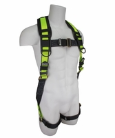 SafeWaze FS280 No-Tangle Single D-Ring Harness with Pass through Leg Buckles: S/M, L/XL, XXL 420 lb. Rating