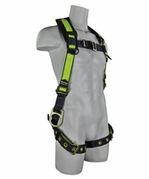 SafeWaze FS285 No-Tangle Three D-Ring Harness with Grommet Leg Straps