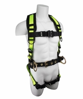 SafeWaze SW160-QC Construction Harness with Free Floating Back Pad, Quick Connect Chest
