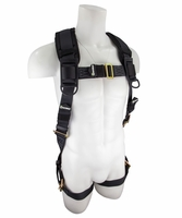 SafeWaze SW99280-HW Single D-Ring Harness with Grommet Leg Straps: 3XL - 4XL  420 lb. Rating