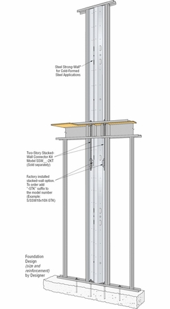 Simpson Strong-Tie S/SSW24X10X-STK S/SSw Panel For 2 Story Stacked
