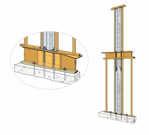 Simpson Strong-Tie SSW15-2KT Steel Strong-Wall 15 2 Story Kit