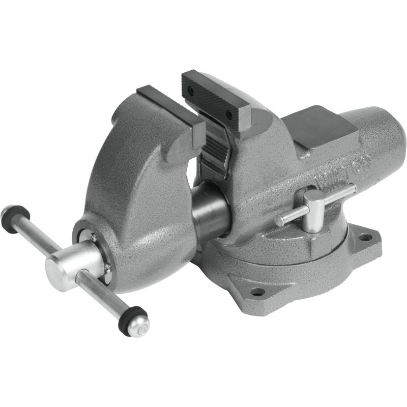 Wilton 28825 Combination Pipe And Bench 3 2 U0026quot  Jaw Round Channel Vise With Swivel Base