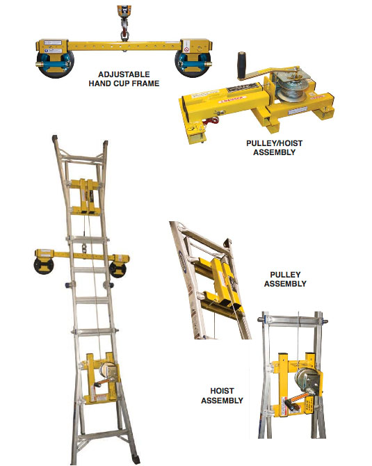 Wood's Powr-Grip 97920MA Ladder Lift LL185 w/ VL2 Handcup Frame & N4000  Handcups