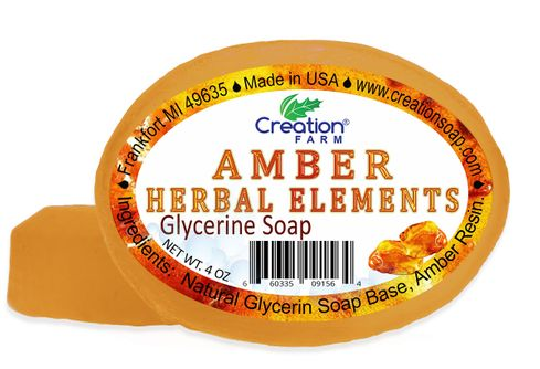 Amber Glycerin Soap 2 Bar Pack