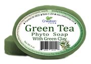 Green Tea Phyto soap with Green Clay, Peppermint & Lemon wholesale * 12 count case * 2.45 ea