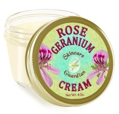 "Rose Geranium Cream 4 oz ""Rescue"""