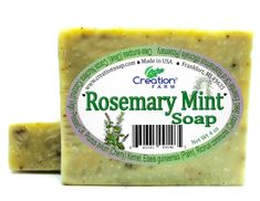 Rosemary - Mint Soap 4 oz, Handmade Mint Rosemary Soap