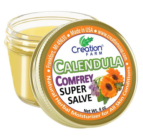 Calendula Comfrey Super Salve - 4oz Jar