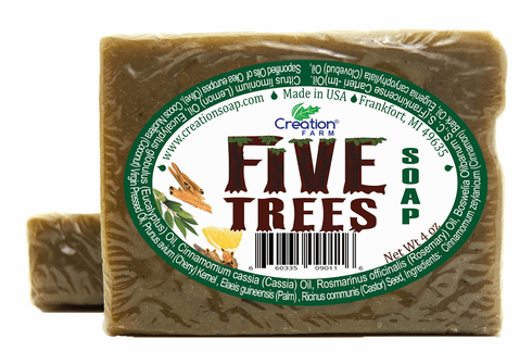 Five Trees Oil Soap -  2 Bar Package (2-4 oz Bars)