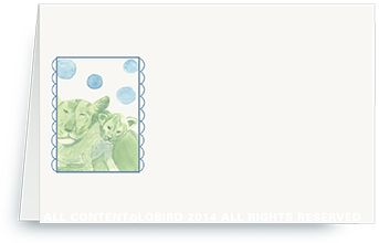 Place Cards - Lion Mother and Cub