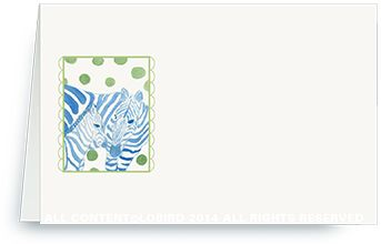 Place Cards - Zebra mother and baby