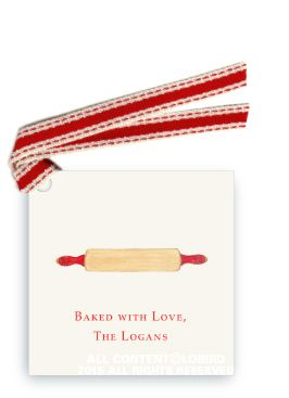 Rolling Pin Gift tag