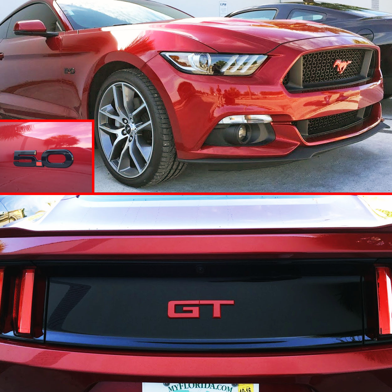 mustang gt emblem ford package rear colored licensed officially coded official emblems colors accessories pair badges