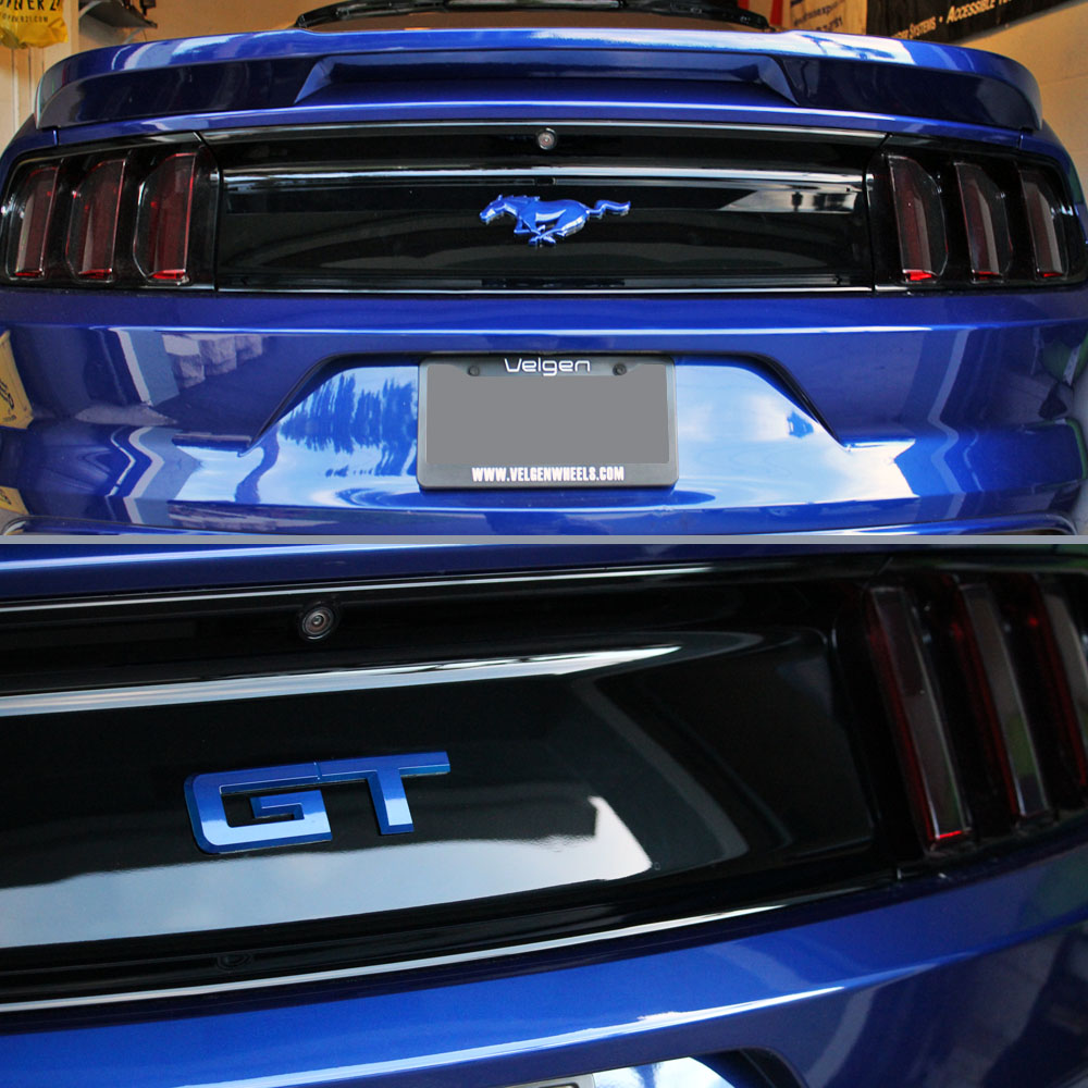 15 19 Mustang Gt Rear Emblem Color Coded Ford Official Licensed