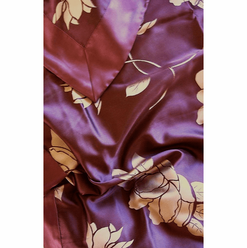 3 pcs Dream Plum Floral Luxury Woven silk Jacquard duvet cover set