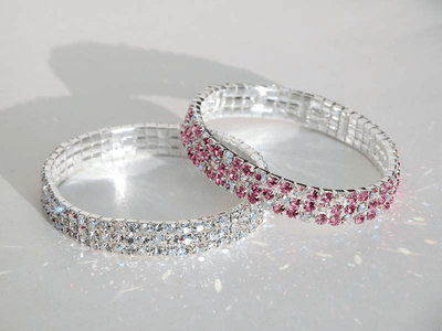 3 row Swarovski stretch bracelet