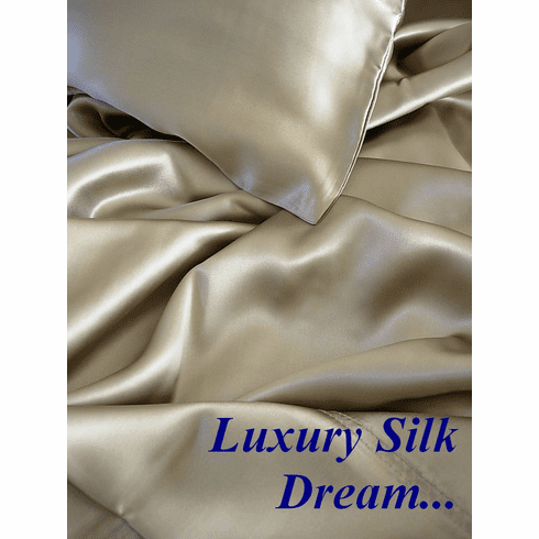 5 pcs 100% silk charmeuse sheet sets-Direct from Importer, Free US ship!