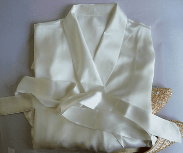 Buttery soft Charmeuse silk robe $32.99...relax in style