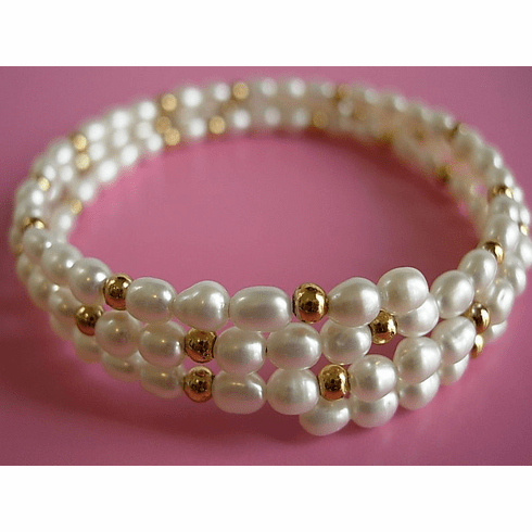 Fresh water rice pearl bracelet/armlet