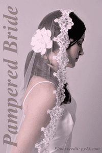 Pampered Bride Mantilla lace veil