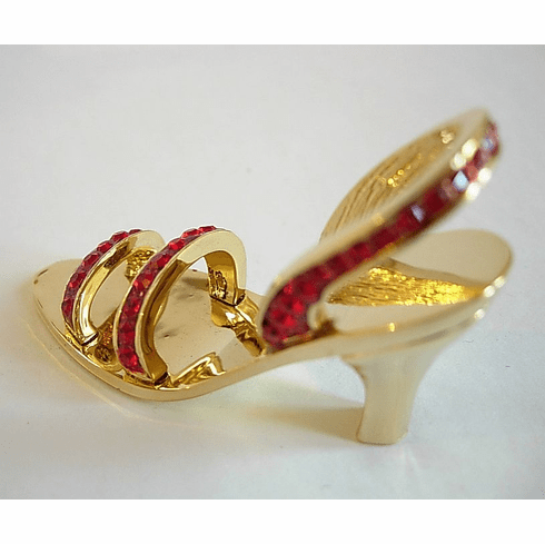 Swarovski crystal shoe business card holder