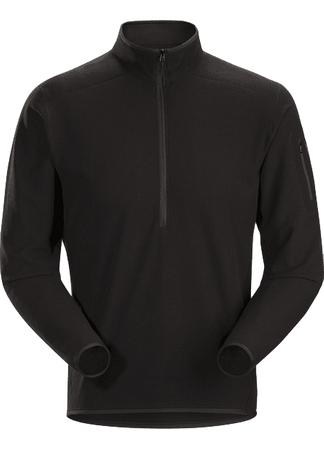 Arc'teryx Mens Delta LT Zip Neck Black