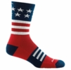Darn Tough Captain Stripe Micro Crew Lightweight with Cushion Stars and Stripes