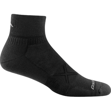 Darn Tough Mens Vertex 1/4 Ultra Light Cushion Black