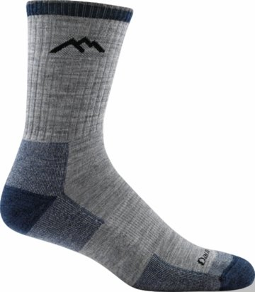 Darn Tough Merino Wool Micro Crew Sock Cushion Light Gray