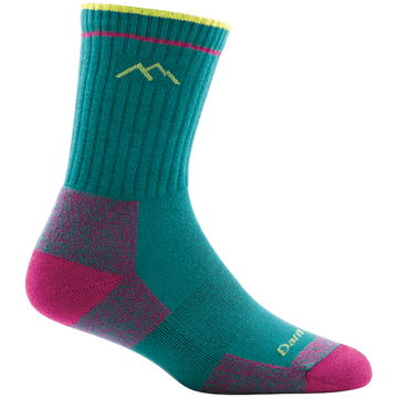 Darn Tough Womens Coolmax Micro Crew Cushion Teal
