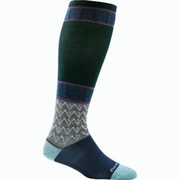 Darn Tough Womens Diamonds Knee High Light Green