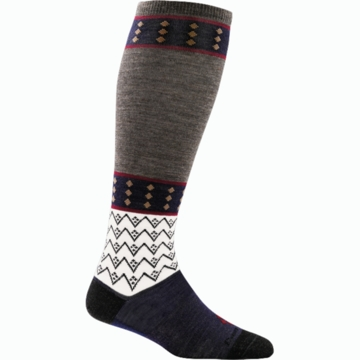 Darn Tough Womens Diamonds Knee High Light Taupe