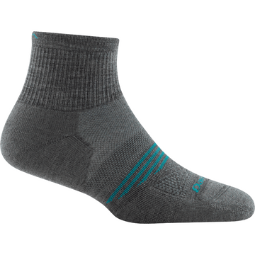 Darn Tough Womens Element 1/4 Lightweight with Cushion Gray