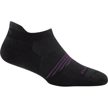 Darn Tough Womens Element No Show Tab Lightweight with Cushion Black