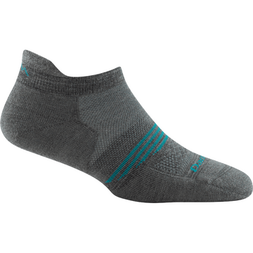 Darn Tough Womens Element No Show Tab Lightweight with Cushion Gray