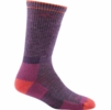 Darn Tough Womens Hiker Boot Sock Cushion Plum Heather