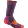 Darn Tough Womens Hiker Boot Sock Full Cushion Plum Heather