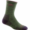 Darn Tough Womens Hiker Micro Crew Midweight with Cushion Moss Heather