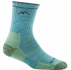 Darn Tough Womens Hiker Micro Crew Sock Aqua Heather