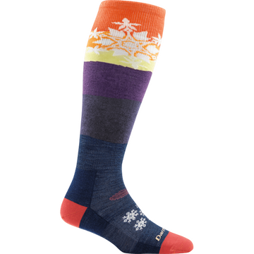 Darn Tough Womens Snowflake OTC Light Sunset